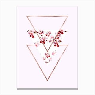 Cherry Polygonal 3 Canvas Print