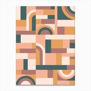 Muted Tones Blocks Canvas Print