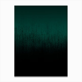 Emerald Ombré Canvas Print