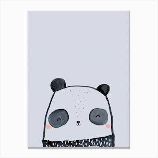Inky Panda Canvas Print