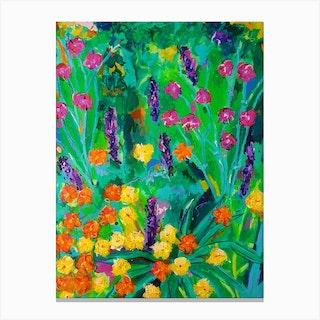 Flowers On Hampstead Heath Canvas Print
