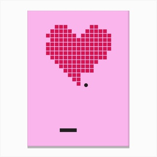 Crack Up Pink Canvas Print