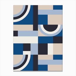 Classic Blue Blocks Canvas Print