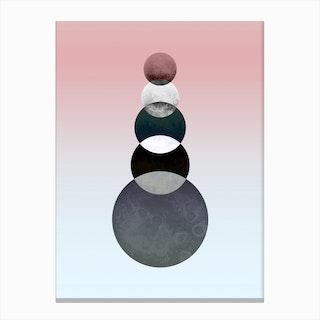 Moon Quintuplet Canvas Print
