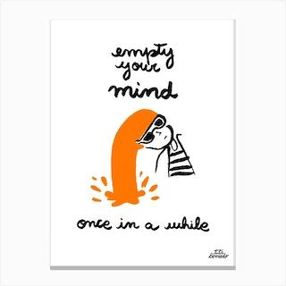 Empty Mind Canvas Print