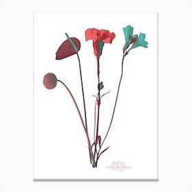 Ode aux Fleurs Rouge Canvas Print