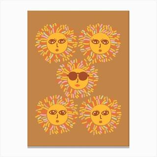 Sunshine Party Boho Ochre Canvas Print