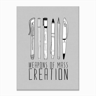 Weapons Of Mass Creation Grey in Canvas Print