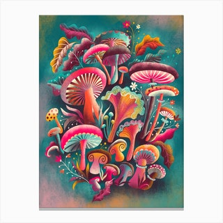 Fantastic Fungi Canvas Print