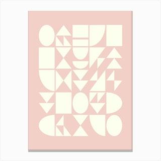 Geometry In Blush Canvas Print