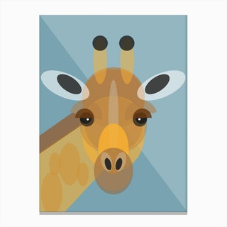 Geometric Giraffe Canvas Print