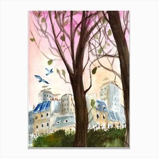 Parc Paris Canvas Print