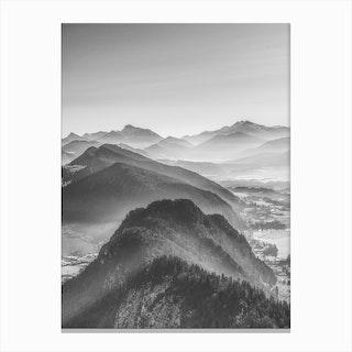 Balloon Ride Over the Alps III Canvas Print