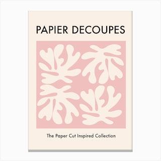 Papiers Paper Cut Pink Canvas Print