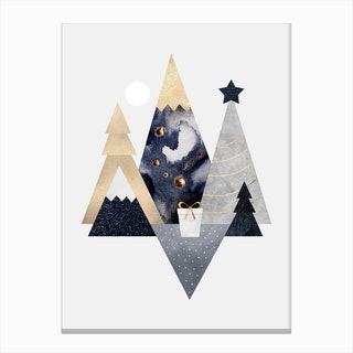 Christmas Mountains Canvas Print