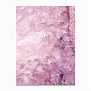 Rose Quartz In Canvas Print