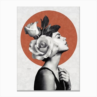 Beauty And Roses Canvas Print