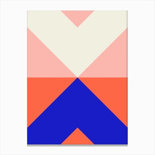 Split X Pink And Blue Canvas Print