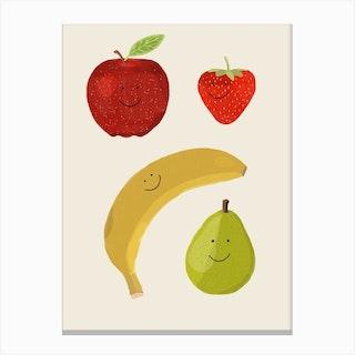 Happy Banana Canvas Print
