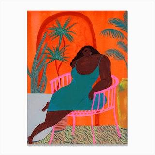 Orange Melancholy Canvas Print