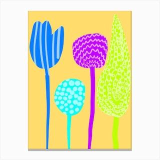 Cutout Flowers Canvas Print