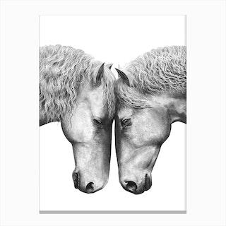 Horses Love Canvas Print