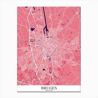 Bruges Pink Purple Canvas Print