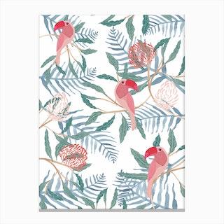 Tucan Jungle Canvas Print