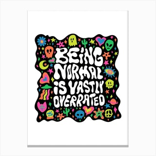 Overrated Canvas Print
