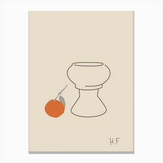 Vase Apple Canvas Print