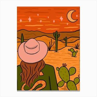 Desert Girl Canvas Print