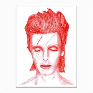 Red Bowie Canvas Print