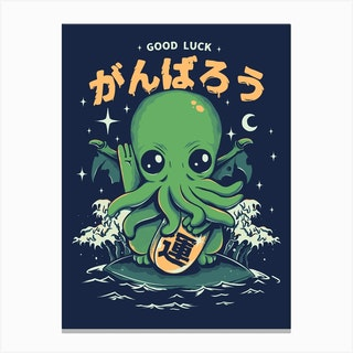 Good Luck Cthulhu Canvas Print