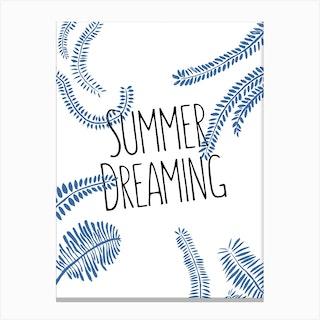 Summer Dreaming White Canvas Print