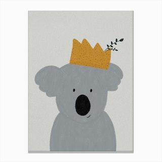 King Koala Nursery Decor Canvas Print