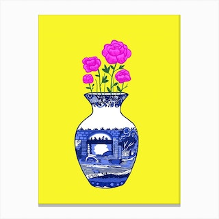 Chinoiserie Peonies Canvas Print