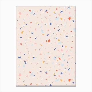 Pink Terrazzo Canvas Print