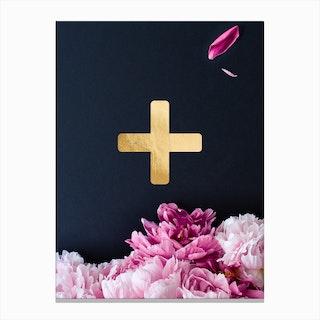 Flower Alphabet Plus Canvas Print