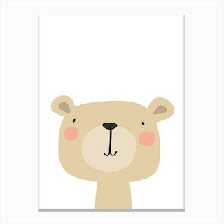 Bear Nursery Print Canvas Print