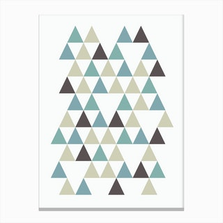 Scandi Triangles Forest Canvas Print