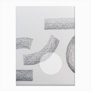 Minimal Abstract Charcoal Canvas Print