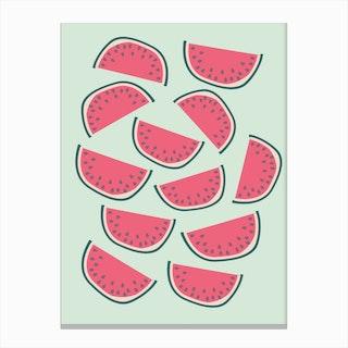 Dancing Watermelons Canvas Print