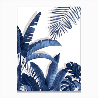 Tropical Blues Canvas Print