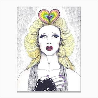 Rockin The Rainbow Canvas Print