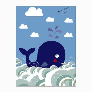 Kids Whale Canvas Print