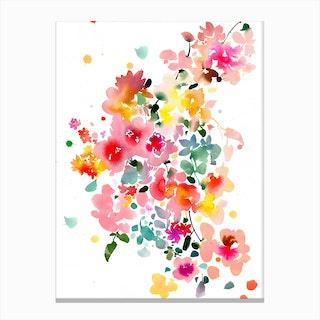 Floral bustle Canvas Print