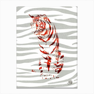 Tiger Red Canvas Print
