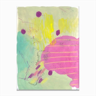 Green Horsy Canvas Print