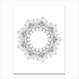 50 Shades Of Grey Mandala Canvas Print