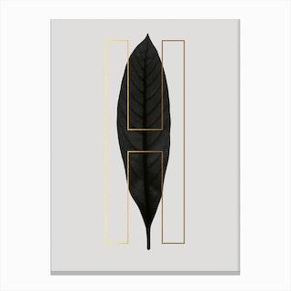 Abc Plant H Canvas Print